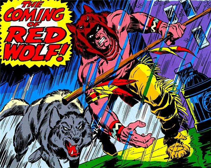 Red Wolf (William Talltrees) and his pet Lobo