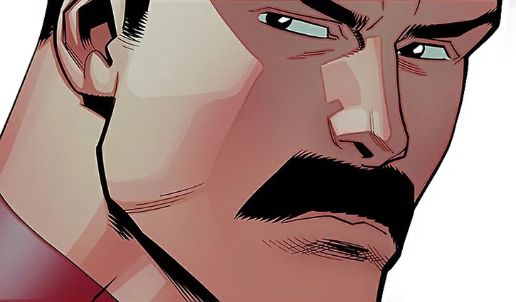 Regent Thragg face and moustache closeup
