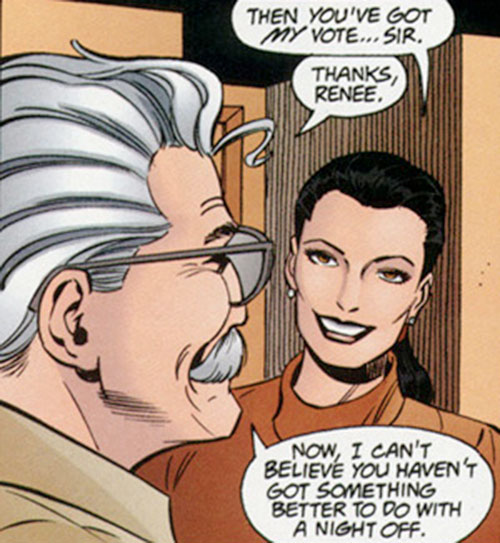 Renee Montoya - early (Batman ally) (DC Comics) and commissioner Gordon