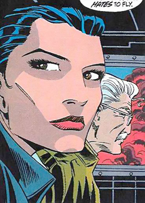 Renee Montoya - early (Batman ally) (DC Comics) face closeup by Romita