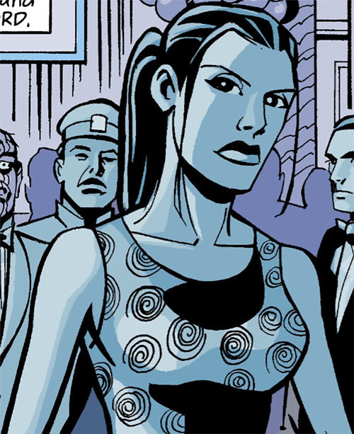 Renee Montoya (Batman ally) (DC Comics) during the early 2000s - off duty with a dress