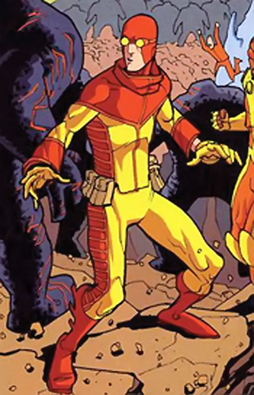 Rex-Splode of the Guardians of the Globe (Image Invincible Comics) surrounded