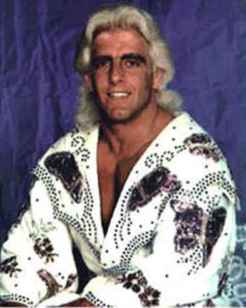 Ric Flair in a printed vest