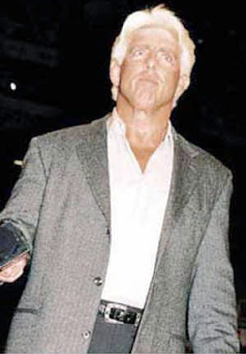 Ric Flair in a gray suit
