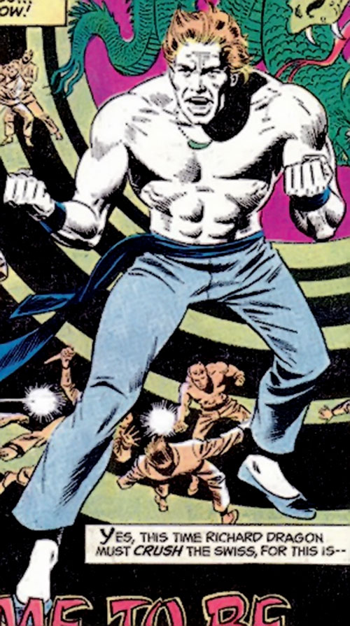 Richard Dragon (DC Comics) his skin white