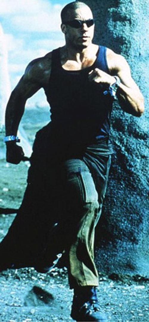 Riddick (Vin Diesel) running