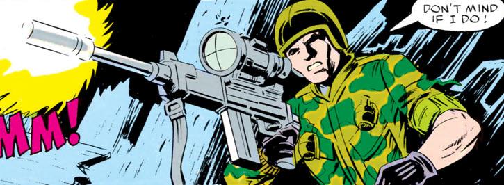 Ripcord - G.I. Joe - 1980s Marvel comics - Night sniping