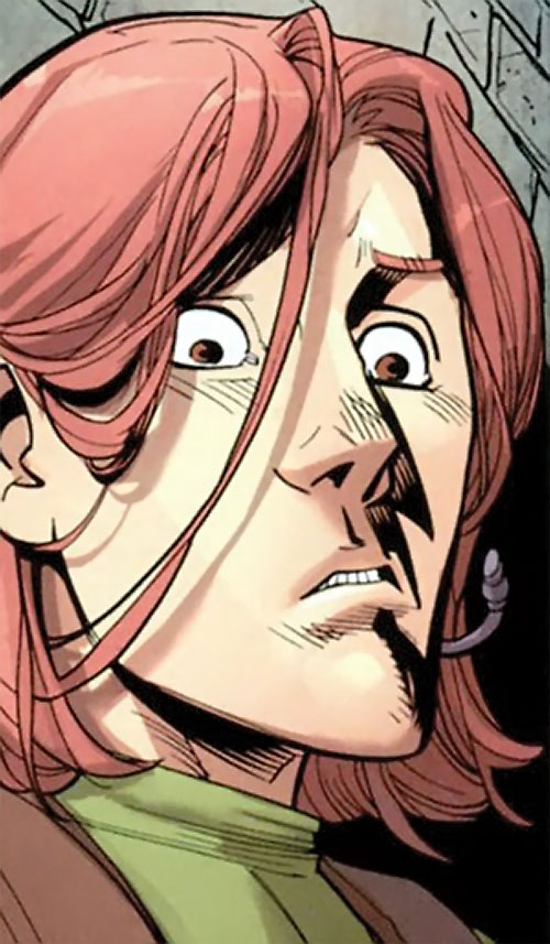 Robot (Invincible comics) surprised face closeup