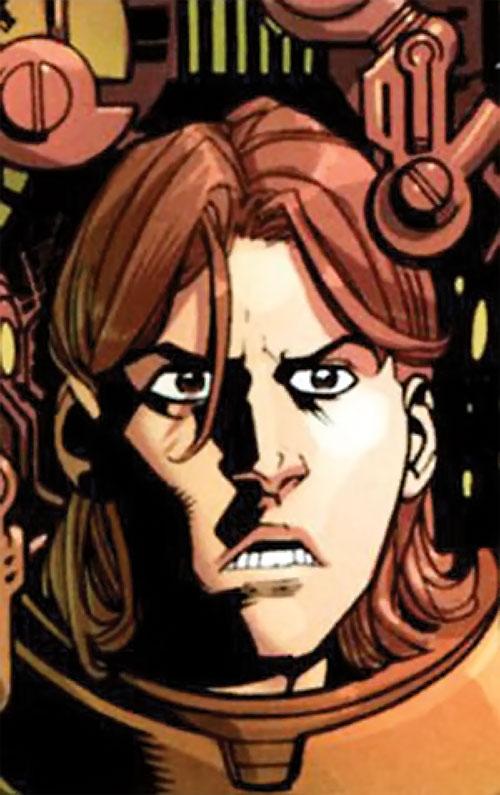 Robot (Invincible comics) anxious face closeup