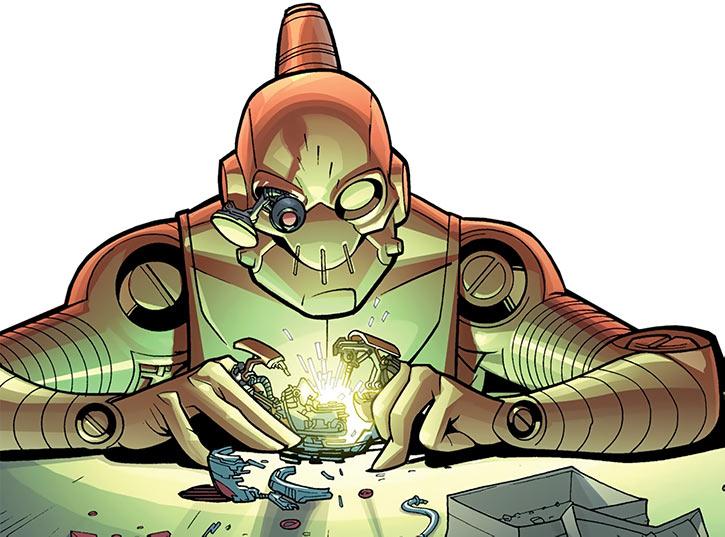 Robot working on electronics