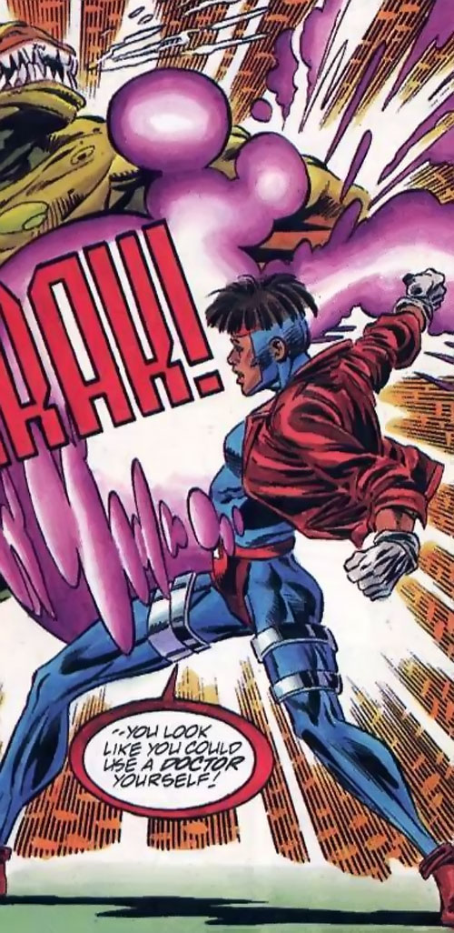 Rocket (Raquel Ervin) (Milestone Comics) fighting