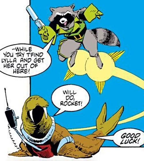 Rocket Raccoon (Marvel Comics) (Classic Mantlo) and Wal Rus