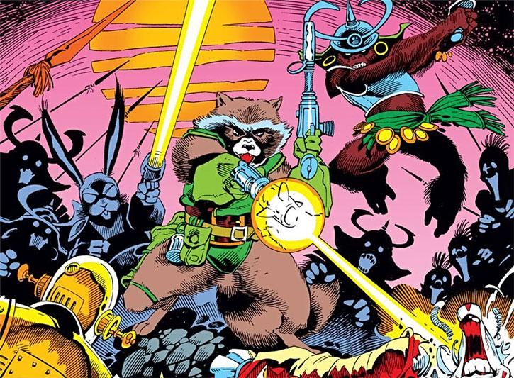 Rocket Raccoon vs. the baddies of Halfworld