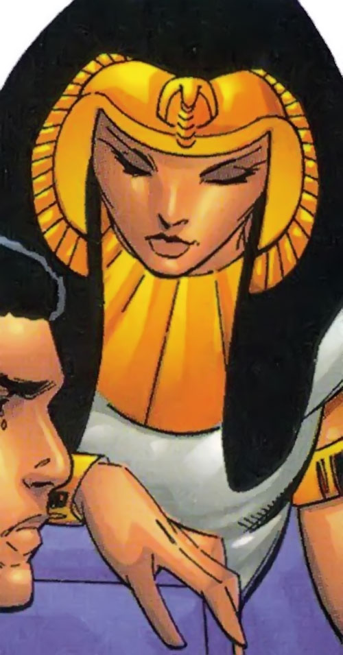 Rosetta Stone (Fantastic Four character) (Marvel Comics) with Egyptian headgear