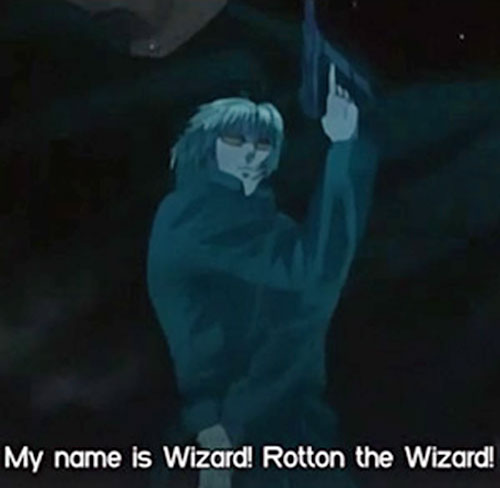 Rotton the Wizard (Black Lagoon) posing dramatically