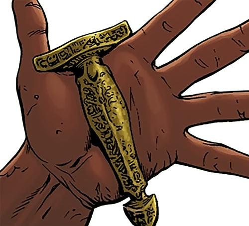 Rustam (Suicide Squad enemy) (DC Comics) scimitar handle