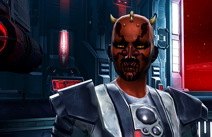 Star Wars the Old Republic -SWTOR - Female Zabrak Sith knight - shuttle bay