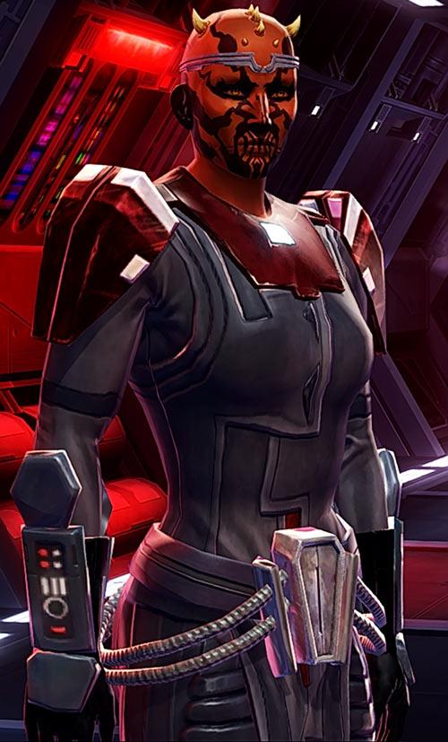 Star Wars the Old Republic -SWTOR - Female Zabrak Sith knight