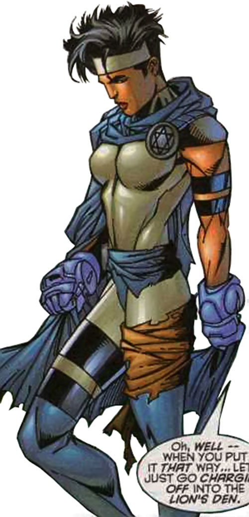 Sabra (Marvel Comics) with the blue gauntlets