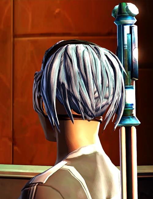 Star Wars Old Republic - Sabra Shulvu silent Jedi knight - Back of head haircut