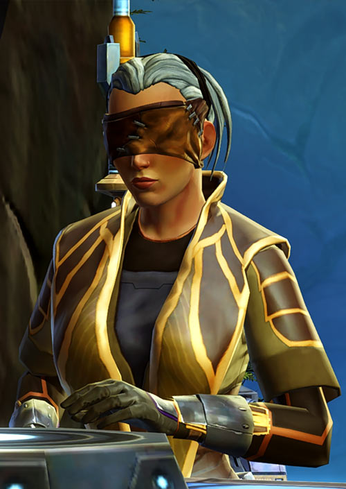 Star Wars Old Republic - Sabra Shulvu silent Jedi knight - Touching forge