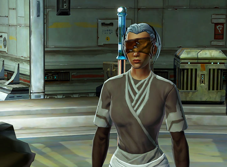Star Wars Old Republic - Sabra Shulvu silent Jedi knight - Beige youngling clothes