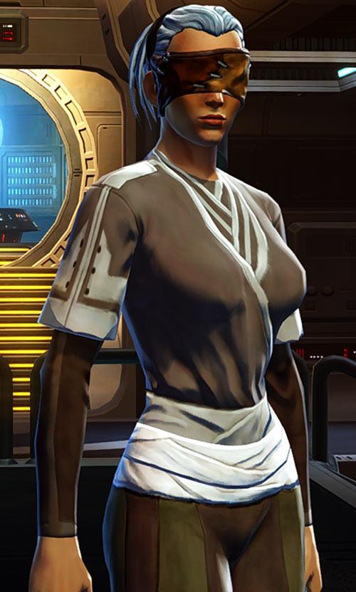 Star Wars Old Republic - Sabra Shulvu silent Jedi knight - Youngling white sash