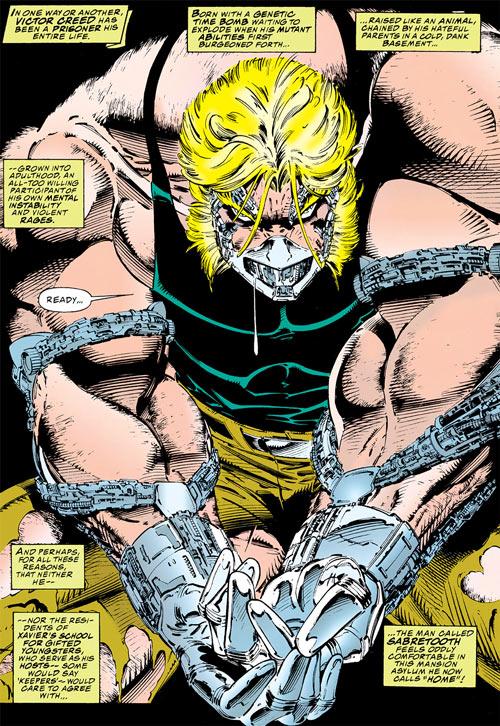 Sabretooth (Wolverine enemy) (Marvel Comics) in restraints
