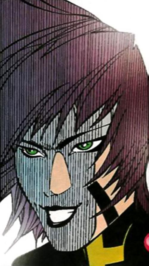 Sai (Heroes for Hire enemy) (Marvel Comics) face closeup