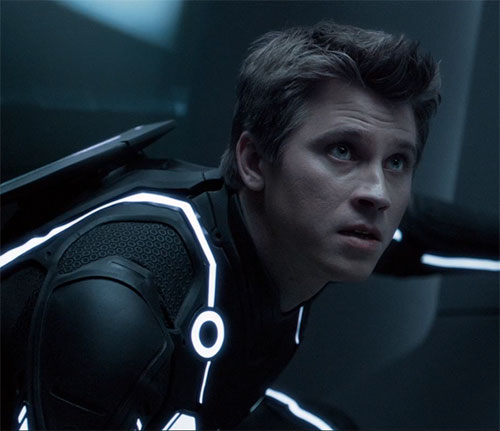 Sam Flynn (Garrett Hedlund in Tron Legacy) being tense