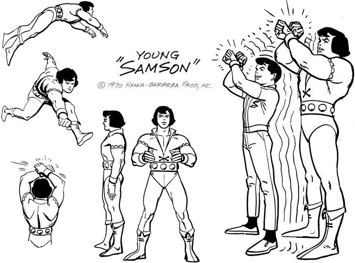 Young Samson and Goliath (Hanna Barbera cartoons) model sheet one
