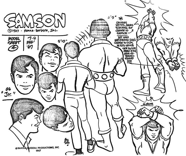 Young Samson and Goliath (Hanna Barbera cartoons) model sheet toth