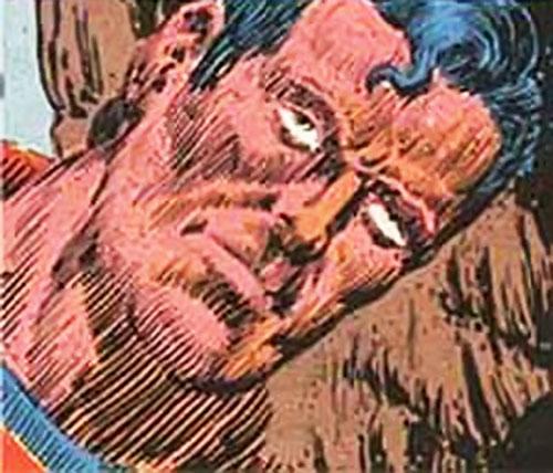 Sand Superman face closeup