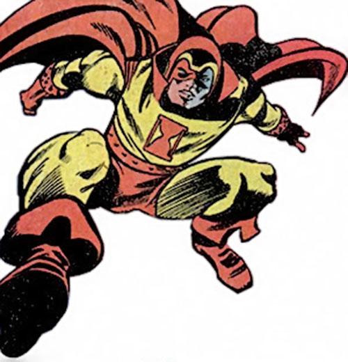 Jack Kirby's Sandman (DC Comics) (Sanford) leaping feet first