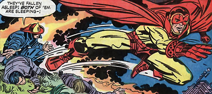 Sandman leaps into action