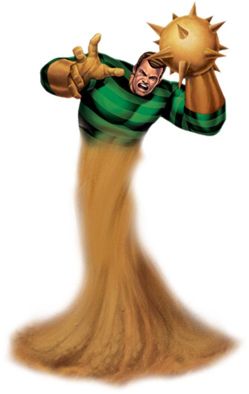 Sandman (Marvel Comics) demonstrating his powers