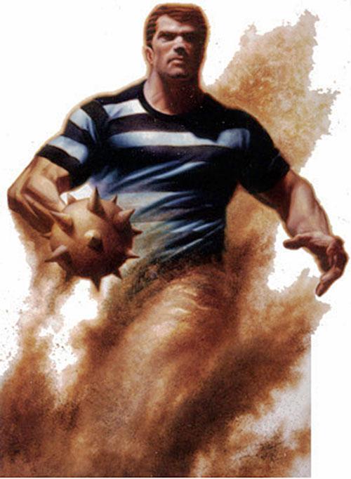 Sandman (Marvel Comics) amidst a sandstorm