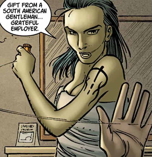 Sandra Verdugo (Hulk character) (Marvel Comics) in a towel