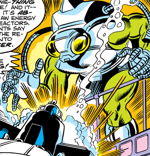 Sapper (Ms. Marvel enemy) (Marvel Comics) absorbing energy