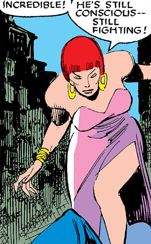 Sapphire Styx (Wolverine enemy) (Marvel Comics) in pink