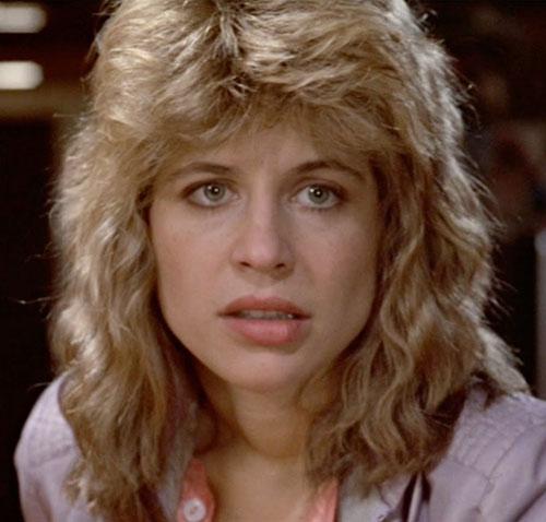 Sarah Connor (Linda Hamilton) in 1984, face closeup
