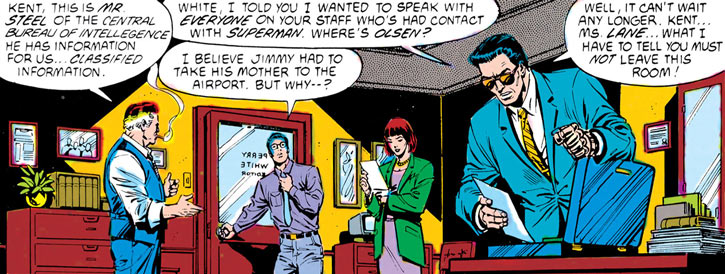 Sarge Steel, Perry White, Clark Kent, Lois Lane