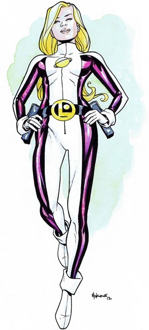 Saturn Girl (rebooted version) color sketch by McKone