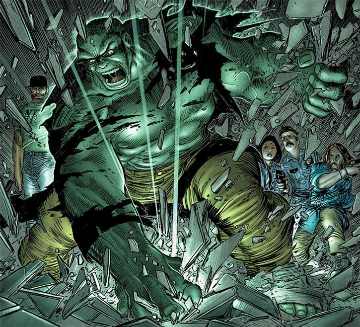 The Hulk smashing the ground