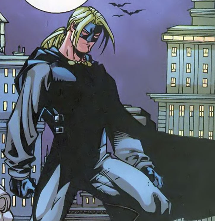 Savant (Brian Durlin) on a rooftop at night