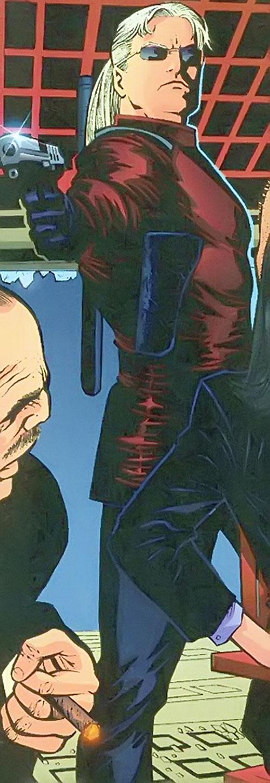 Savant (Birds of Prey character) (DC Comics) pointing a pistol