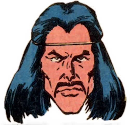 Scalphunter of the Marauders (X-Men enemy) (Marvel Comics) face closeup