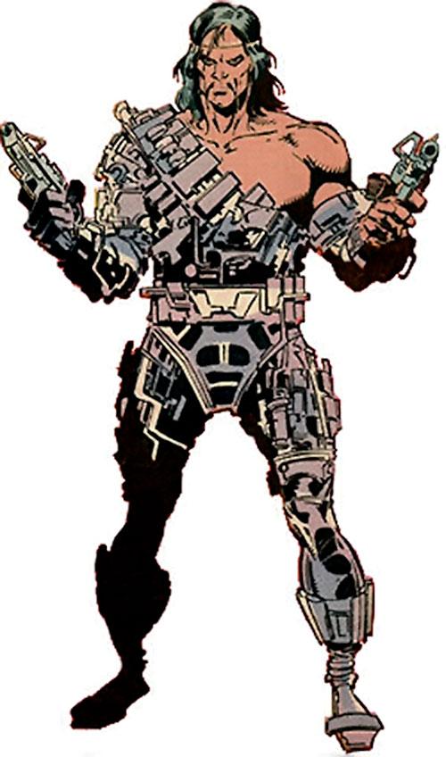 Scalphunter of the Marauders (X-Men enemy) (Marvel Comics) from the 1980s handbook