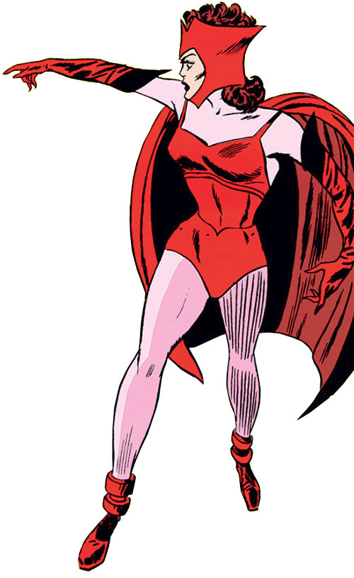 Scarlet Witch of the Avengers (Early version) (Marvel Comics) vintage costume