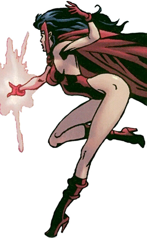 Ultimate Scarlet Witch (Marvel Comics) with cape and one-piece suit